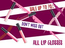 Vector Lipgloss Package Design Stock Image