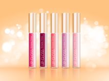 Vector Lipgloss Package Design Royalty Free Stock Photos