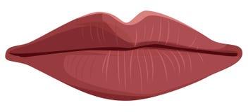 Vector lippen Royalty-vrije Stock Afbeelding