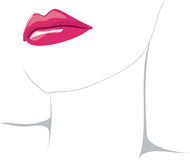 Vector Lips Royalty Free Stock Photography