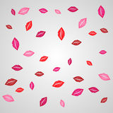 Vector lips background Royalty Free Stock Image