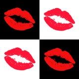 Lipstick kiss. Vector illustration. Vector lipstick kisses design elements Royalty Free Stock Photos