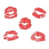 Vector lipstick marks. Vector illustration Royalty Free Stock Image
