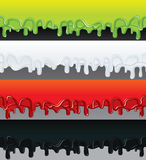 Vector Liquid Banners. Ready for Text and Design. Royalty Free Stock Images