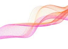 Vector liso abstracto del color del movimiento de onda Línea ondulada gráfico del diseño del vector del elemento stock de ilustración
