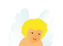Vector little angel Royalty Free Stock Photos