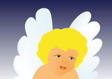Vector little angel Stock Photography