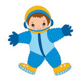 Vector Little Astronaut Royalty Free Stock Photo