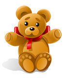 Vector little bear toy gift Stock Photo