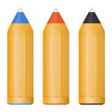 Vector little black, red and blue ball pens Stock Image
