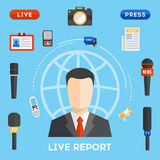 Vector live report concept Royalty Free Stock Photo