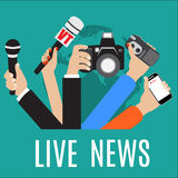 Vector live report concept, Royalty Free Stock Photos