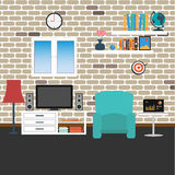 Vector of living room Stock Photos