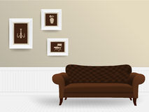 Vector living room interior concept Stock Photography