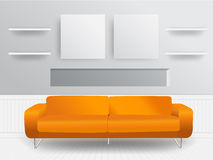 Vector living room interior concept Stock Images