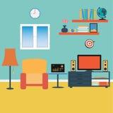 Vector of Living Room. Sofa ,Windows ,Book Royalty Free Stock Photos