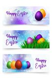Vector llustration Happy Easter Day. Colorful Eastern Eggs on a abstract watercolor background greeting card. Design. Template for poster, banner, flayer vector illustration