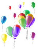 Vector llustration a set of colourful birthday Royalty Free Stock Photography