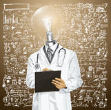 Vector LM Doctor Man With Clipboard 04 Stock Image