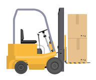 Vector loader with boxes Stock Photography