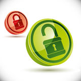 Vector lock icon. Royalty Free Stock Photo