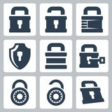 Vector lock icons set Stock Image