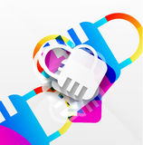 Vector lock modern colorful design Stock Image