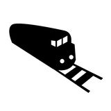 Vector locomotive silhouette Stock Photo