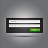 Vector login interface Stock Foto