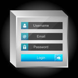 Vector login interface - username and password Royalty Free Stock Images