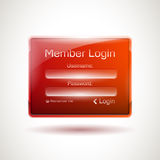 Vector login window Stock Images