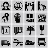 Vector logistic, delivery and shipping icon set Stock Photo