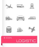 Vector logistic icons set Stock Photo