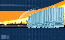 Vector logistics theme background Stock Photography