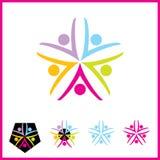 Vector Logo. Illustration of human body symbolizing health and happiness Stock Photo