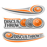 Vector logo for athletics discus throw Stock Photography