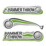 Vector logo for athletics hammer throw Stock Photos