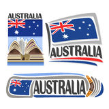 Vector logo Australia Royalty Free Stock Images
