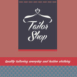 Vector logo and background for salon tailoring Stock Photography