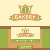 Vector logo for a bakery, macaroni factory. Vector Stock Photos