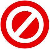 Vector logo banned or stopped on a white background royalty free illustration