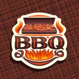 Vector logo for BBQ royalty free illustration