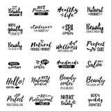 Vector logo Beauty and Spa. Brush script Stock Photo