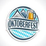 Vector logo beer coaster oktoberfest Stock Image