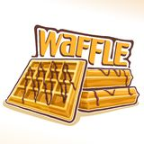 Vector logo for belgian Waffle Royalty Free Stock Photos