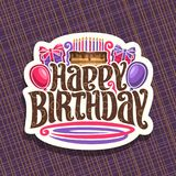 Vector logo for Birthday holiday Royalty Free Stock Photography