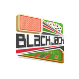 Vector logo for Blackjack gamble vector illustration