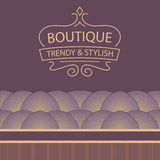 Vector logo for boutique clothing, accessories Stock Photo