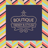 Vector logo for boutique clothing, accessories, jewelry Royalty Free Stock Photo