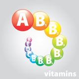 Logo brand vitamin nutrition Stock Photo
